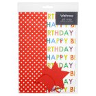 Waitrose happy birthday & stars gift Waitroseap, pack of 2 sheets and 2 tags - 2s