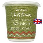 Waitrose Channel Island whiskey & ginger cream - 250ml