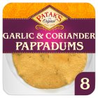 Patak's pappadums garlic & coriander - 8s Brand Price Match - Checked Tesco.com 13/08/2014