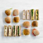 Finger sandwiches & mini rolls platter 20 pieces - each
