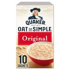 Quaker Oat So Simple original porridge cereal sachets - 324g Brand Price Match - Checked Tesco.com 20/07/2016