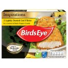 Birds Eye lightly dusted cod fillets lemon & black pepper - 225g
