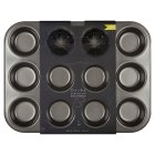from Waitrose 35x27cm non-stick twelve hole deep baking tin - 35 x 27cm