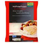 Waitrose frozen line caught haddock fillets - 425g