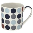 Waitrose fine china blue spot mug - each