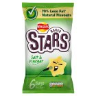 Walkers Baked Stars Salt & Vinegar 6x23g - 6x23g