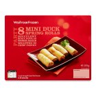 Waitrose 8 mini duck spring rolls - 200g