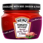 Heinz tomato ketchup garlic - 300g Brand Price Match - Checked Tesco.com 05/03/2014