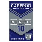 Cafépod espresso ristretto 10capsules strength 10 - 50g Brand Price Match - Checked Tesco.com 23/04/2014