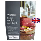 Waitrose slow cooked salt beef - per kg