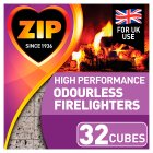 Zip odourless firelighters - 32s Brand Price Match - Checked Tesco.com 05/03/2014