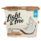 Danone Light & Free Greek Style Coconut - 4x115g