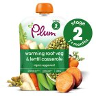 Plum organic buttery root vegetables with green lentils - stage 2 - 130g Brand Price Match - Checked Tesco.com 21/04/2014