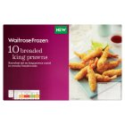 Waitrose Frozen 10 Breaded King Prawns - 130g