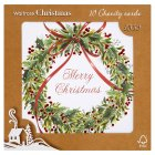 Waitrose Christmas gltr mistletoe cards - 10s