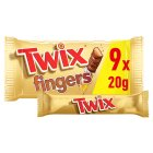 Twix biscuit fingers, 9 pack