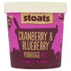 Stoats cranberry& blueberry porridge quick pot - 60g Brand Price Match - Checked Tesco.com 20/05/2015