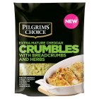 Pilgrims Choice extra mature cheddar crumbles with breadcrumbs & herbs - 180g