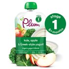 Plum kale, apple yogurt - 85g Brand Price Match - Checked Tesco.com 16/04/2014