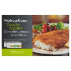 Waitrose frozen 2 breaded lemon sole fillets - 280g