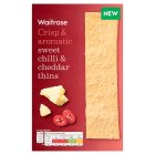 Waitrose sweet chilli & Cheddar thins - 125g