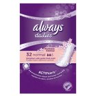 Always dailies normal pantyliners - 32s Brand Price Match - Checked Tesco.com 16/04/2014