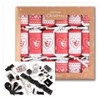 Waitrose Christmas Red/White Crackers -