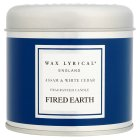 Fired Earth Assam & White Cedar Candle - tin
