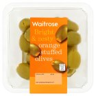 Waitrose kalkidis olives stuffed with orange zest in a parsley dressing