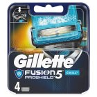 Gillette Fusion pro- shield Chill Blades - 4s