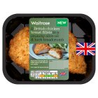 Waitrose 2 herb breaded whole chicken breast fillets - 240g