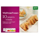 Waitrose Frozen 10 Prawn Toasts - 170g