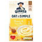 Quaker Oats So Simple honey & vanilla porridge cereal sachets - 338g