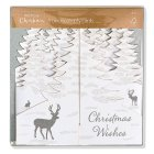Waitrose Charity Glitter Stag Cards - 5s