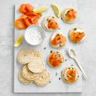 Waitrose smoked salmon blinis