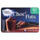 Weight Watchers choc' pots caramel chocolate - 6x55g