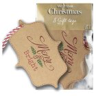 Waitrose Christmas kraft merry gift tags - 8s