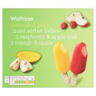 Waitrose LoveLife Calorie Controlled mango and raspberry fruit sorbet lollies - 6x60ml
