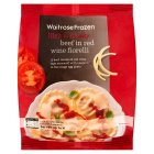 Waitrose Frozen beef in red wine fiorelli - 500g