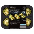 Heston from Waitrose 12 mini fish pies - 300g