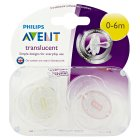 Philips Avent 0-6month orthodontic soothers, pack of 2 - 2s
