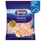 Young's prawns cooked & peeled - 215g