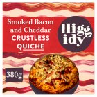 Higgidy crustless smoked bacon & Cheddar quiche - 380g