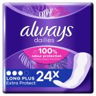 Always dailies long plus pantyliners - 24s