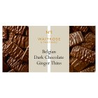 Waitrose 1 Belgian dark chocolate & ginger thins - 100g