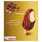 Waitrose Almond & Milk Chocolate Ice Creams - 3x100ml