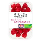 essential Waitrose British raspberries - 195g