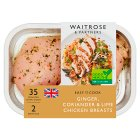 Waitrose Easy To Cook ginger, chilli & lime chicken breasts - 285g