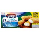 Young's 12 Cod Fish Fingers - 336g Introductory Offer
