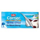 Müller Corner Greek style yogurt with black cherry - 4x150g Brand Price Match - Checked Tesco.com 28/07/2014